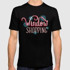 Window Shopping Black Mens Fitted Tee MEDIUM