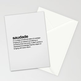 Saudade Stationery Cards