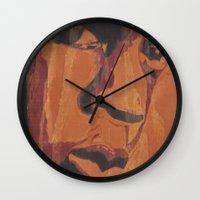jay fleck Wall Clocks featuring Jay by 100mill