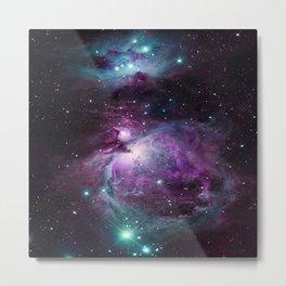 Orion Nebula Purple teal full Metal Print