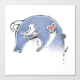 go vegan,vegan, love, heart, corazon Canvas Print