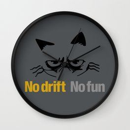 No drift No fun v1 HQvector Wall Clock