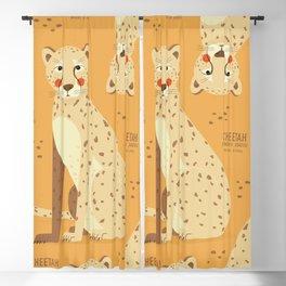 Cheetah, African Wildlife Blackout Curtain
