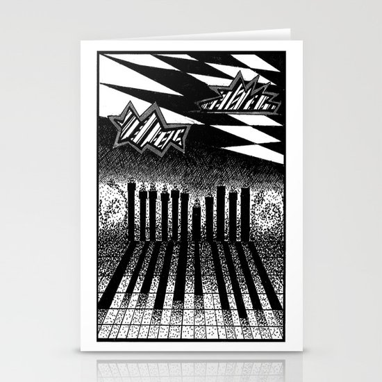 descending of night at the factory Stationery Cards