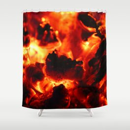 Hot Embers Shower Curtain