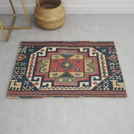 Cowboy Sumakh // 19th Century Colorful Red White Blue Western Lone Star Dallas Ornate Accent Pattern Rug