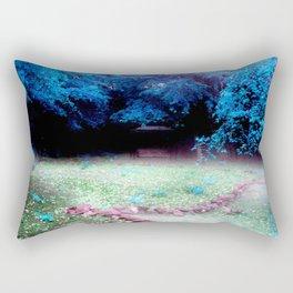 Enchanted Park Turquoise Rectangular Pillow