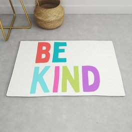 Be Kind Kindness Happy Colorful Kids Quote Rug