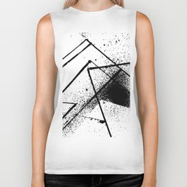 black and white spray paint Biker Tank