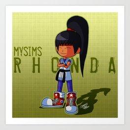 Rhonda as Yuri Sakazaki Art Print