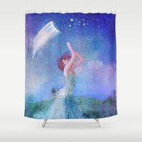 dreamcatcher Shower Curtains featuring Dreamcatcher by Aimee Stewart