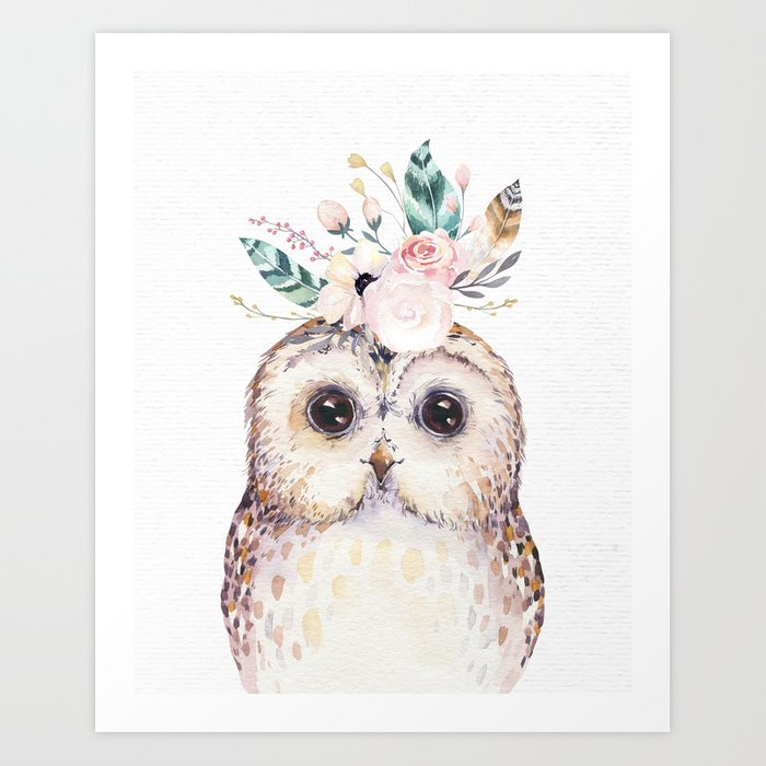Forest Owl by Nature Magick Art Print