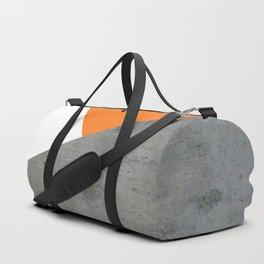 Concrete Tangerine White Duffle Bag