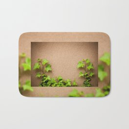young leaves of hedera helix ivy Bath Mat