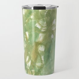UNTITLED (SUMMER) - Green Swirls Travel Mug