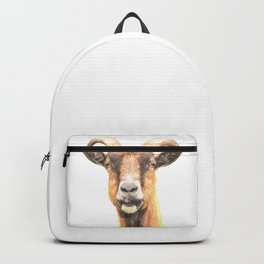 Goat Portrait Backpack