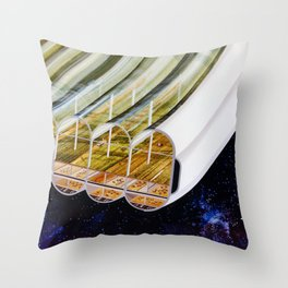 Agricultural modules on a Bernal sphere Throw Pillow