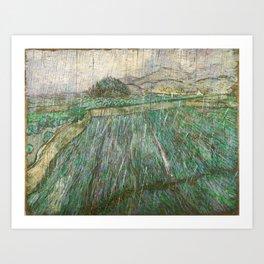 Vincent Van Gogh Wheat Field In Rain Art Print