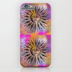 Sun illustration pink orange iPhone 6s Slim Case