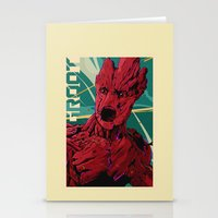 guardians of the galaxy Stationery Cards featuring Groot Guardians of the galaxy by W.B.