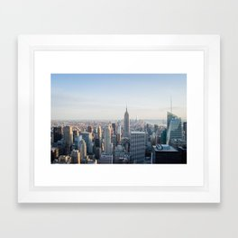 Towers - City Urban Landscape Photography Framed Art Print