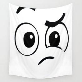 Perplexed Emoji Halloween Costume TShirt Confused Face Wall Tapestry