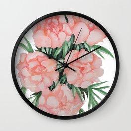 Peony Floral Wall Clock