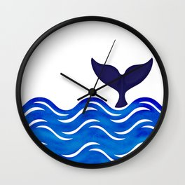 Blue Whale Tail Wall Clock