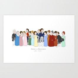 Cast of Jane Austen's Pride and Prejudice Art Print