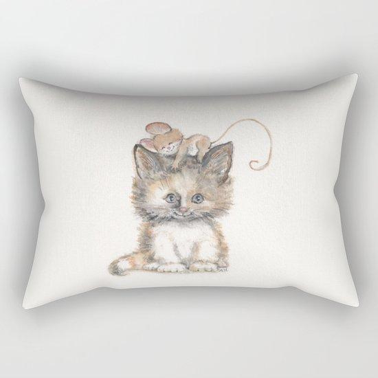 Cat and Mouse Rectangular Pillow