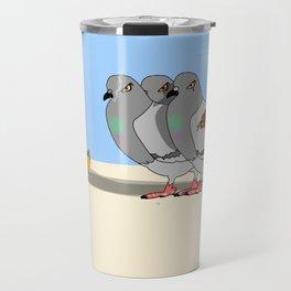 Cat amoung the Pigeons Travel Mug