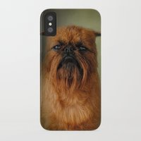 brussels iPhone & iPod Cases featuring The Brussels Griffon by Jai Johnson