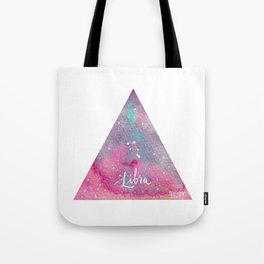Libra - Astrology Mixed Media Tote Bag