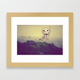 Alien Craft Monster Doodle Framed Art Print