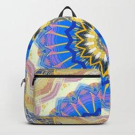 Brushed Blue Boho Mandala Backpack
