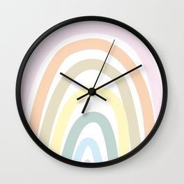 my own pastel rainbow Wall Clock