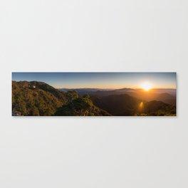 Ghost Lake Sunset Canvas Print