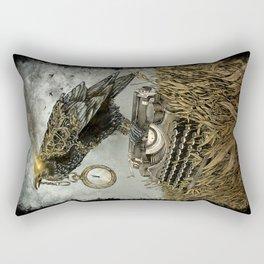 Omnia Fert Aetas Rectangular Pillow