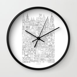 Glasgow, a cone in a haystack Wall Clock