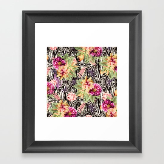 TROPICAL FUSION Framed Art Print