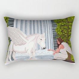 Pegasus and an angel Rectangular Pillow