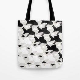 Fish Black White Tote Bag