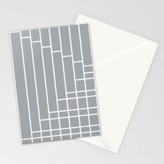 Fuzz Outline Grey Stationery Cards