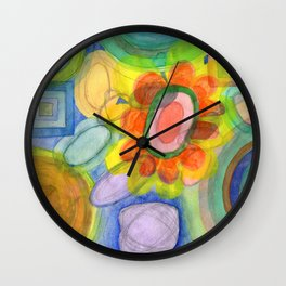 A closer Look at the Flower  Universe Wall Clock