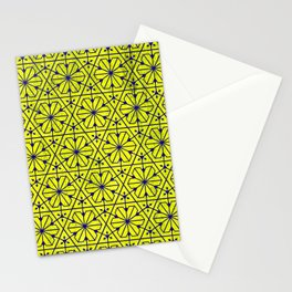 V26 Moroccan Pattern Design Yellow Carpet Moroccan Texture. Stationery Cards