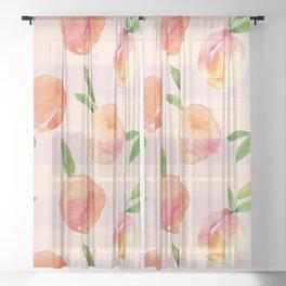 Peaches pattern Sheer Curtain