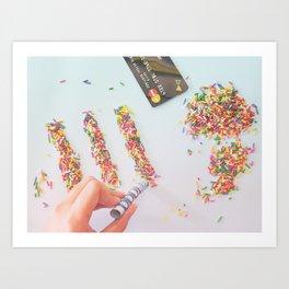 High on Sugar Art Print
