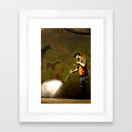 Banksy - Removing Historys Art Framed Art Print