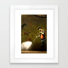 Banksy - Removing Historys Art Framed Art Print