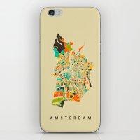 amsterdam iPhone & iPod Skins featuring Amsterdam by Nicksman